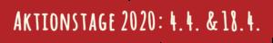 Zamm gehts besser - Aktionstage 2020: 4. & 18.4.